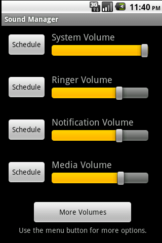 Sound Manager screen shot