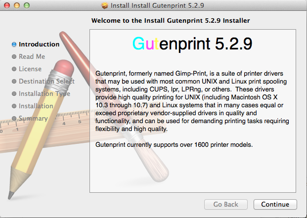 Gutenprint Installer