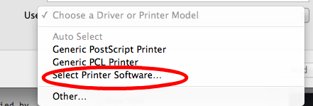Select Printer Software