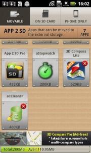 App 2 SD screenshot