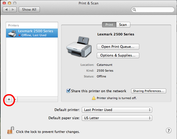 Add New Printer
