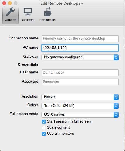 Remote Desktop Setup