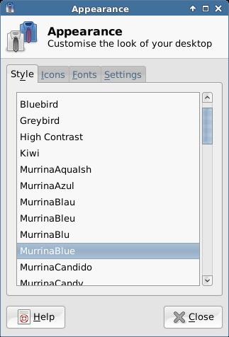 Selecting a Desktop Theme